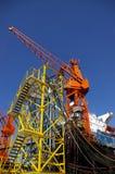 Guindastes de construção Imagem de Stock Royalty Free