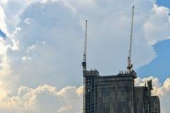 Guindastes de construção Foto de Stock