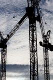 Guindastes de torre Foto de Stock