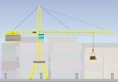 Guindastes de torre para o uso industrial Imagem de Stock