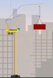 Guindastes de torre para o uso industrial Fotografia de Stock