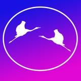 Guindastes de voo Logo Background Icon General Purpose de Sarus ilustração stock