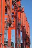 Guindastes do porto Imagens de Stock Royalty Free