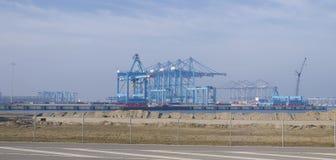 Guindastes do porto Fotografia de Stock Royalty Free
