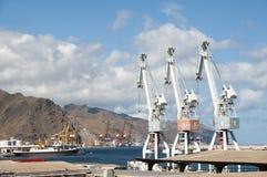 Guindastes do porto Imagem de Stock Royalty Free