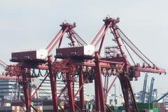 Porto comercial do recipiente em Hong Kong Foto de Stock