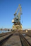 Guindastes do porto e do porto Fotografia de Stock Royalty Free