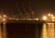 Guindastes do terminal de recipiente do porto Odessa imagens de stock royalty free