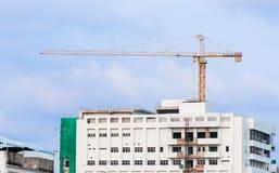 Guindaste de construção industrial imagens de stock royalty free