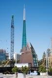 Guindastes e torre de Bell da cisne Fotos de Stock Royalty Free