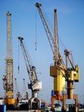 Guindastes portuários Foto de Stock