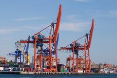 Guindastes portuários Fotografia de Stock Royalty Free