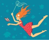 Guindineau de loquet de fille illustration libre de droits