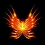 Guindineau de vol avec les ailes ardentes Photographie stock