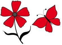 Guindineau et fleur Photographie stock libre de droits