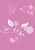 Guindineau et fleurs. illustration stock