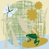 Guindineau et grenouille Photographie stock