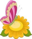 Guindineau sur la fleur illustration de vecteur