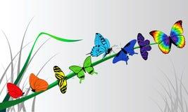 Guindineaux colorés illustration de vecteur