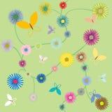 Guindineaux et fleurs Illustration Libre de Droits