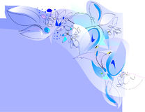 Guindineaux et fleurs - cadre jovial de source Photo libre de droits
