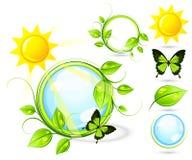 Guindineaux et soleil illustration stock