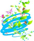 Guindineaux, lames et défilements de couleurs en pastel. Photographie stock libre de droits
