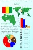 guine Infographics für Darstellung Alle Länder der Welt stock abbildung