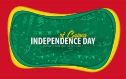 guine Unabhängigkeitstaggrußkarte Papierschnittart lizenzfreie abbildung