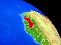 Guinea auf Planet Erde lizenzfreie abbildung