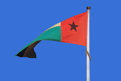 Guinea-bissau. Flag of guinea-bissau in west africa stock image