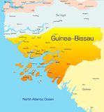 Guinea-Bissau. Abstract vector color map of Guinea-Bissau country Royalty Free Stock Images