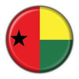 Guinea Bissau button flag round shape Royalty Free Stock Photography