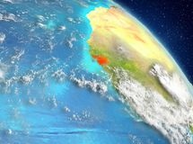 Guinea-Bissau de la órbita libre illustration