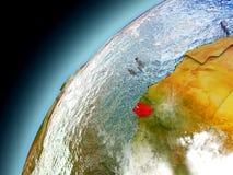 Guinea-Bissau de la órbita de Earth modelo Imágenes de archivo libres de regalías
