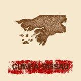 Guinea-Bissau distressed map. Stock Photos