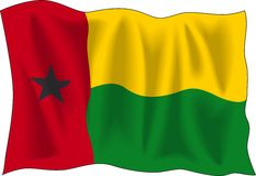 Guinea Bissau flag Royalty Free Stock Photography