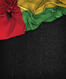 Guinea-Bissau Flag Vintage on a Grunge Black Chalkboard With Spa Royalty Free Stock Photography