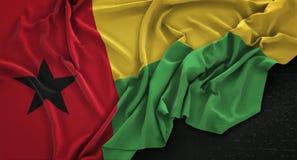 Guinea-Bissau Flag Wrinkled On Dark Background 3D Render Stock Images