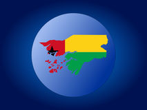 Guinea-Bissau globe Stock Image