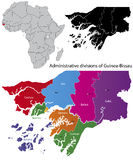 Guinea-Bissau map Royalty Free Stock Image