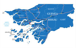 Guinea Bissau map Stock Photography