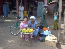 Guinea Bissau marknad Arkivfoto