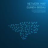 Guinea-Bissau network map. Abstract polygonal map design. Internet connections vector illustration royalty free illustration