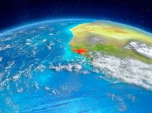 Guinea-Bissau på jord Arkivbild