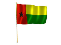 Guinea Bissau silk flag Royalty Free Stock Images