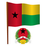 Guinea bissau wavy flag Royalty Free Stock Photos