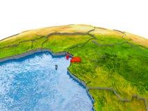 Guinea Ecuatorial en el modelo de la tierra Foto de archivo libre de regalías