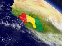 Guinea with embedded flag on Earth Stock Photography