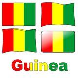 Guinea flag Royalty Free Stock Images